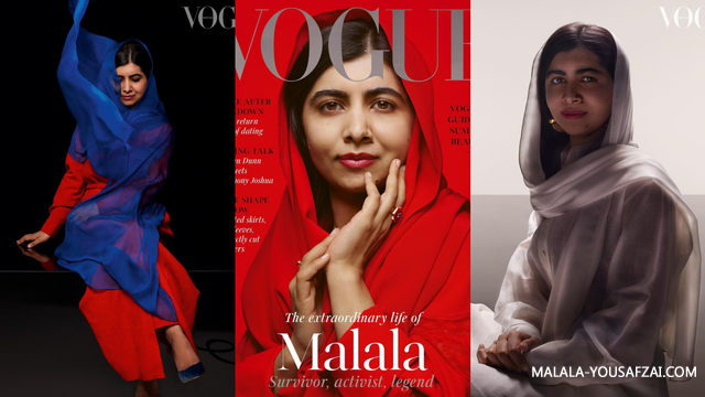 Malala Yousafzai tampak pada Halaman Utama Majalah Vogue